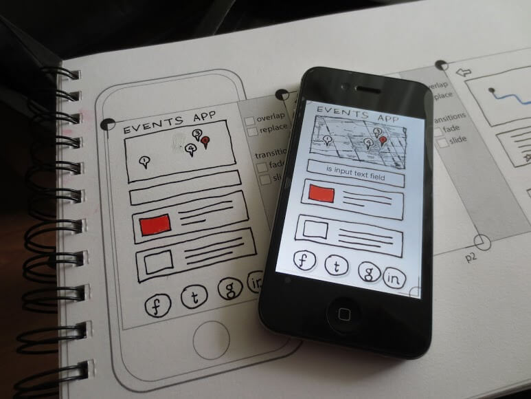 papieren mockup android ios